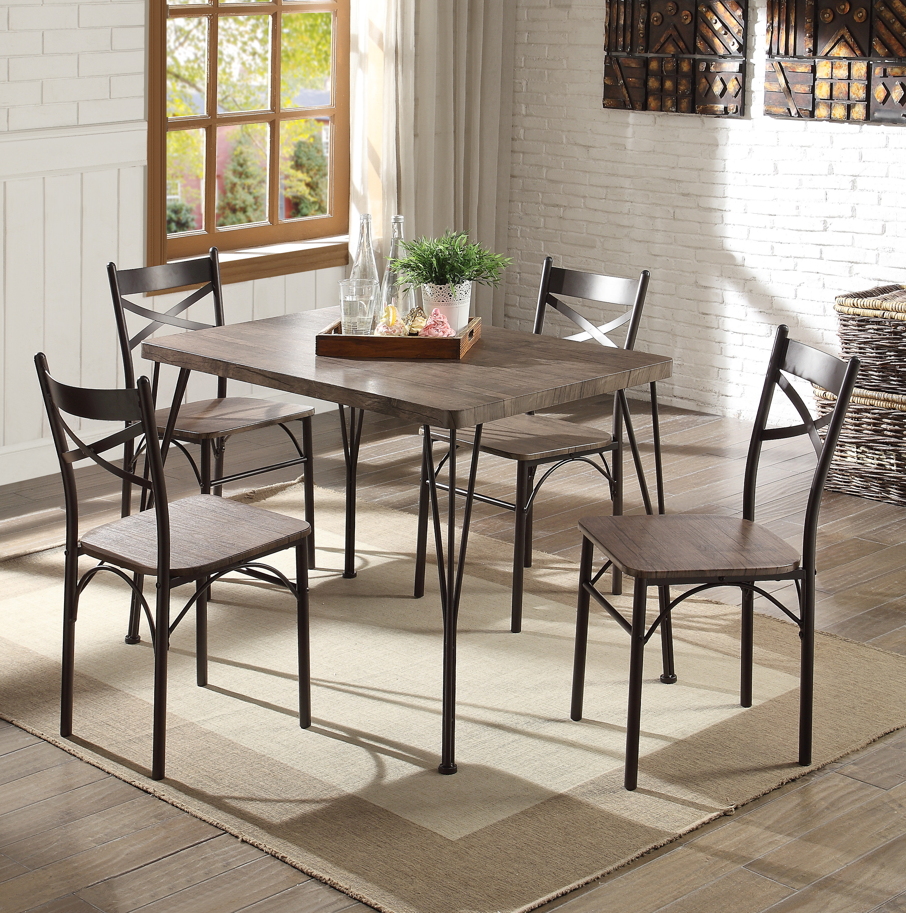 Widely Used Emmeline 5 Piece Breakfast Nook Dining Sets Throughout Andover Mills Middleport 5 Piece Dining Set & Reviews (View 11 of 25)