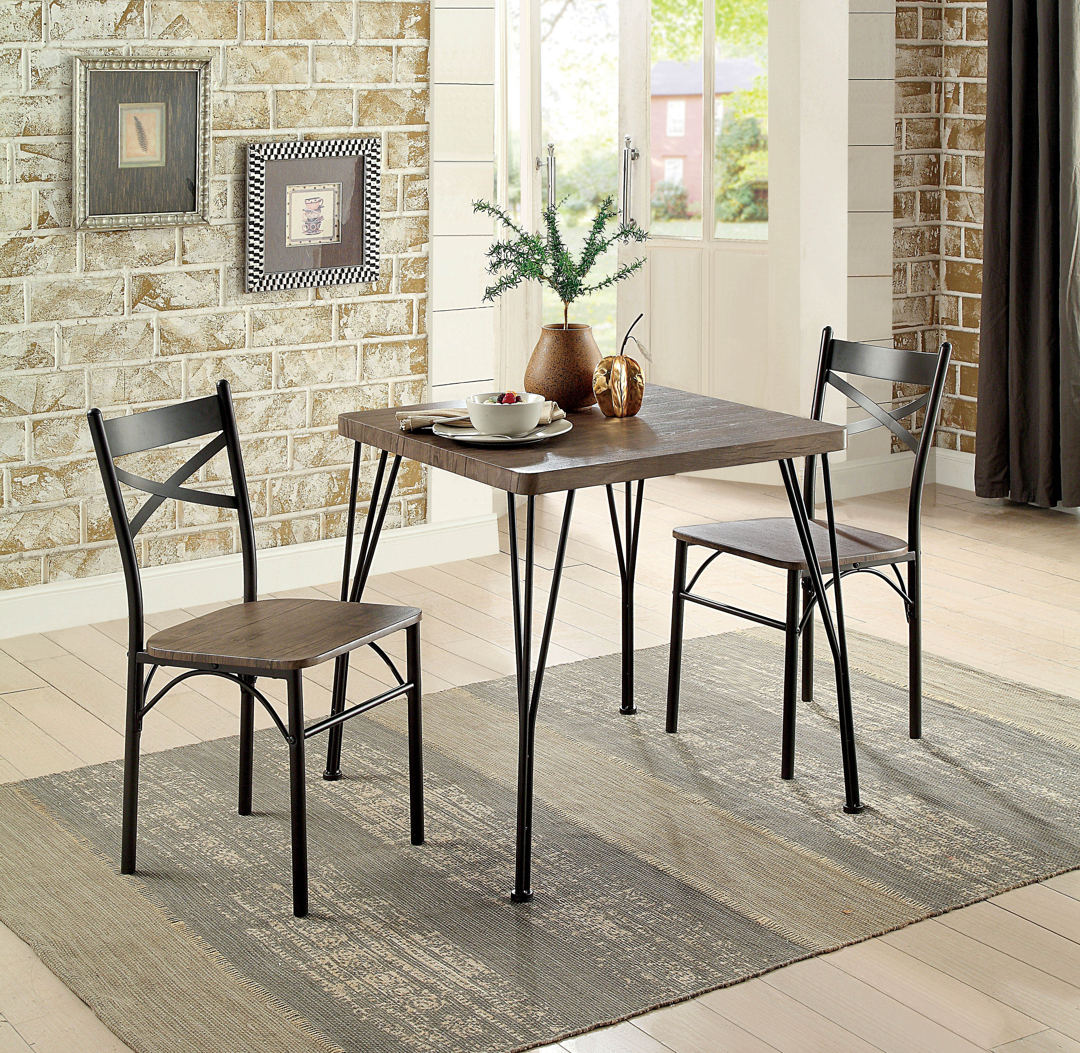 Widely Used Laurel Foundry Modern Farmhouse Guertin 3 Piece Dining Set & Reviews Throughout Kinsler 3 Piece Bistro Sets (View 3 of 25)