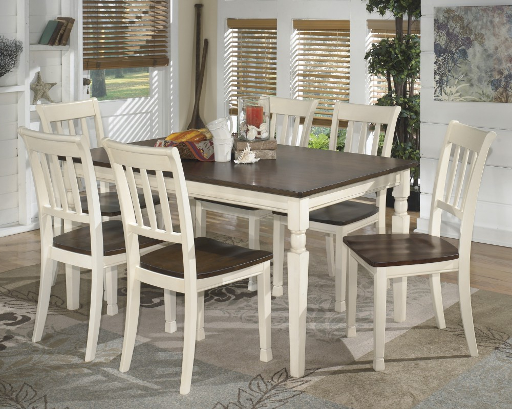Widely Used Linette 5 Piece Dining Table Sets Intended For Whitesburg Rectangular Dining Room Table & 6 Side Chairs (View 24 of 25)