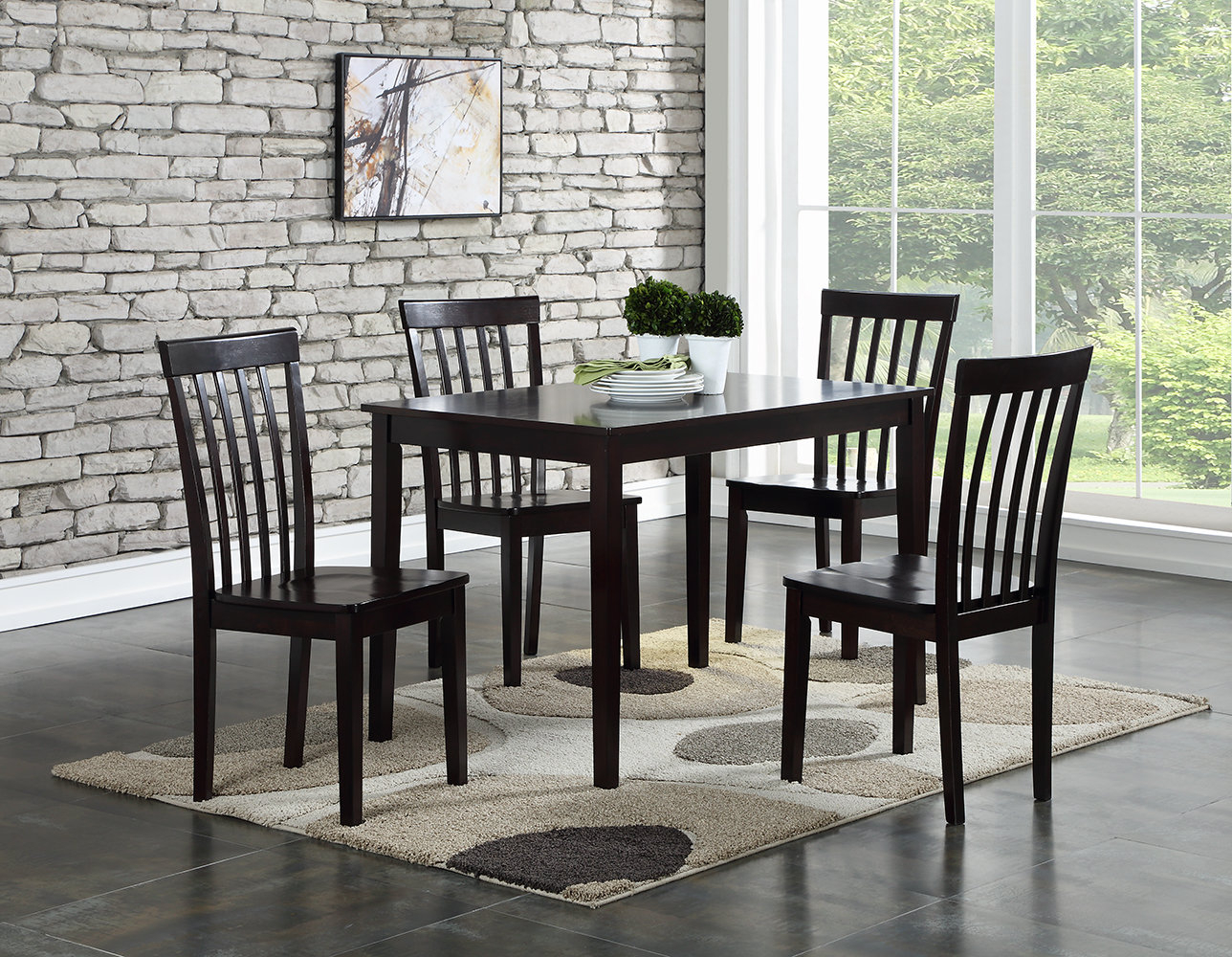 Widely Used Ralls 5 Piece Dining Set & Reviews (View 12 of 25)