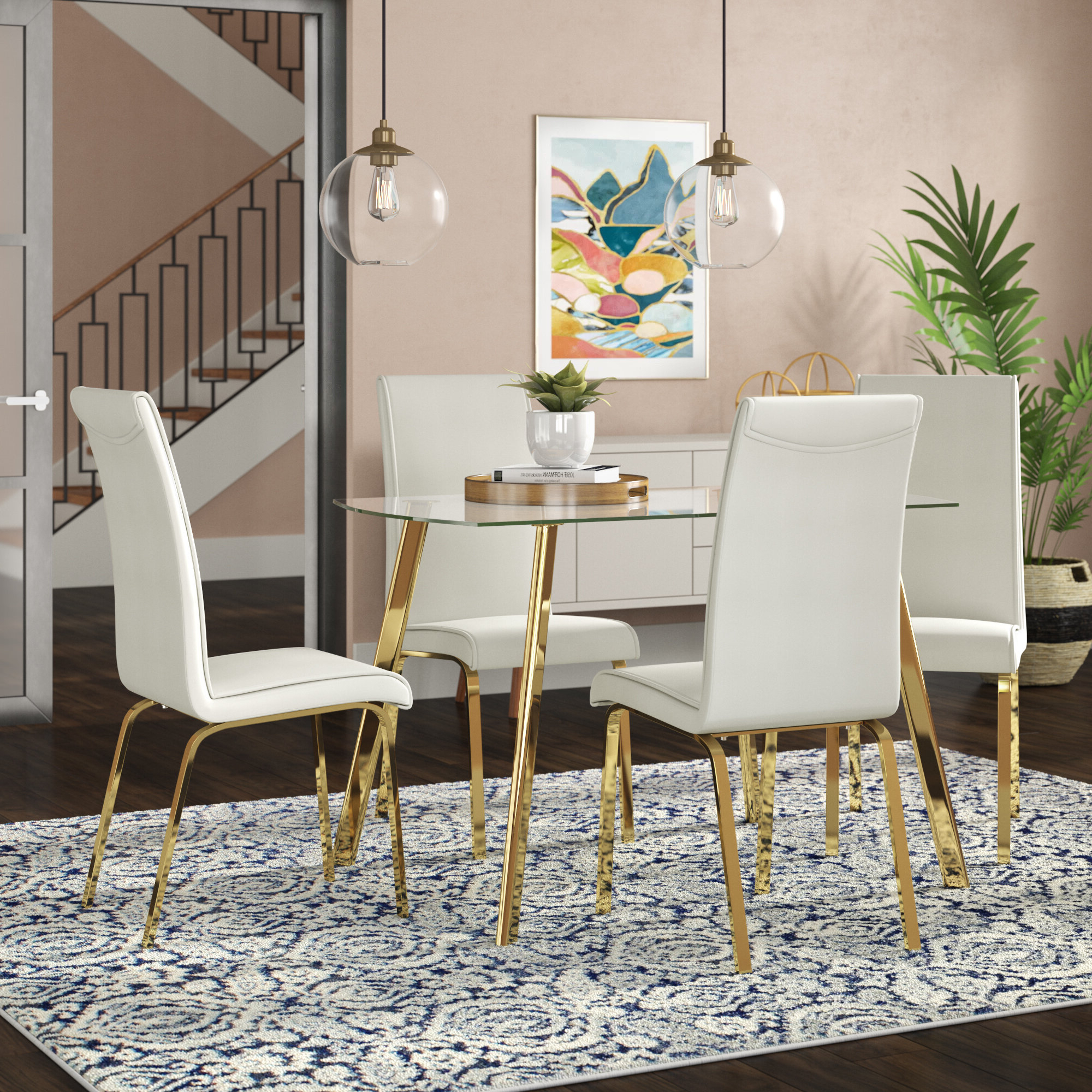 Widely used Travon 5 Piece Dining Sets throughout Wrought Studio Leia 5 Piece Dining Set