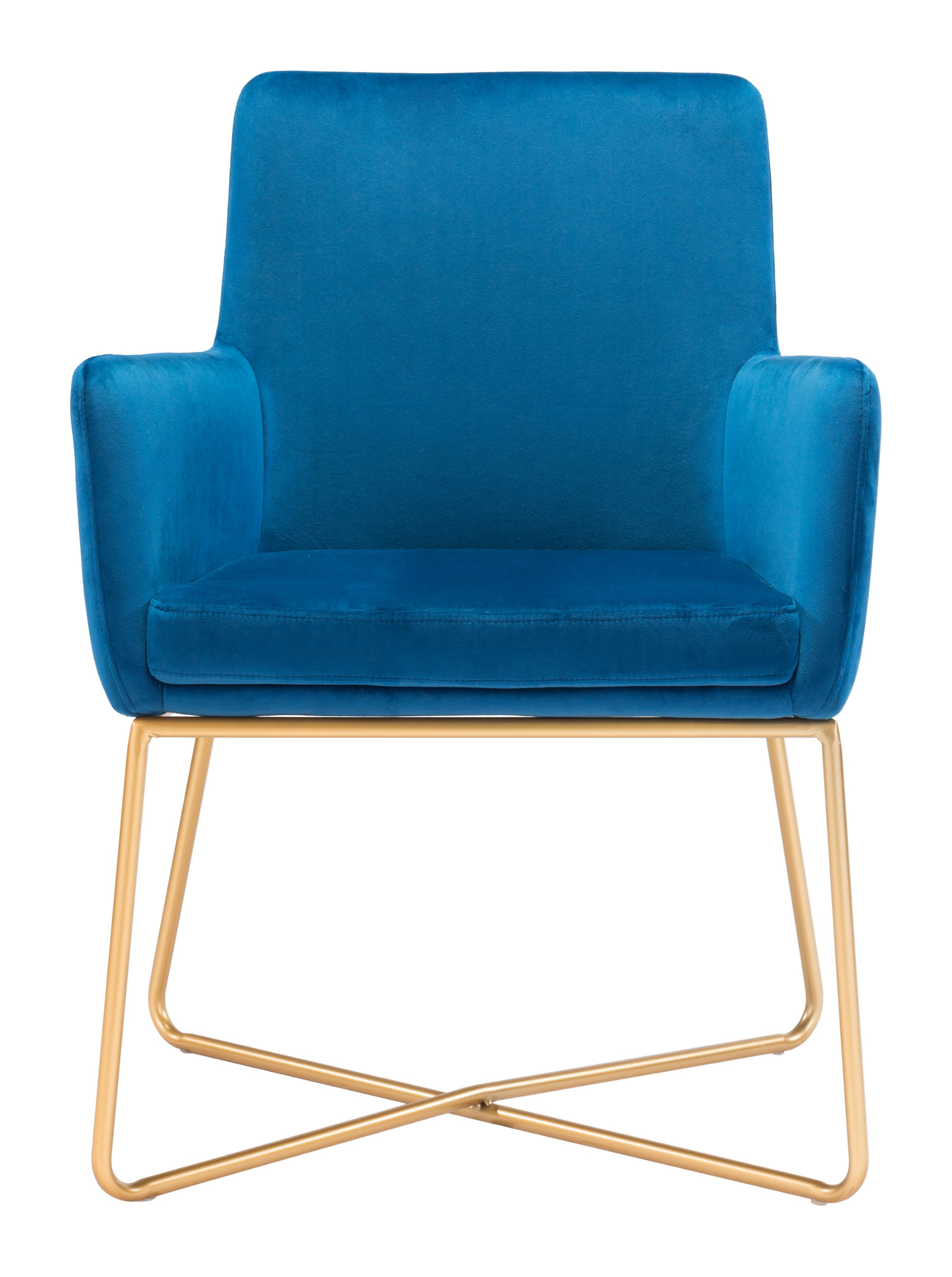 Widely Used Zuo Modern Honoria Arm Chair (Dark Blue Velvet ) –  (View 10 of 25)
