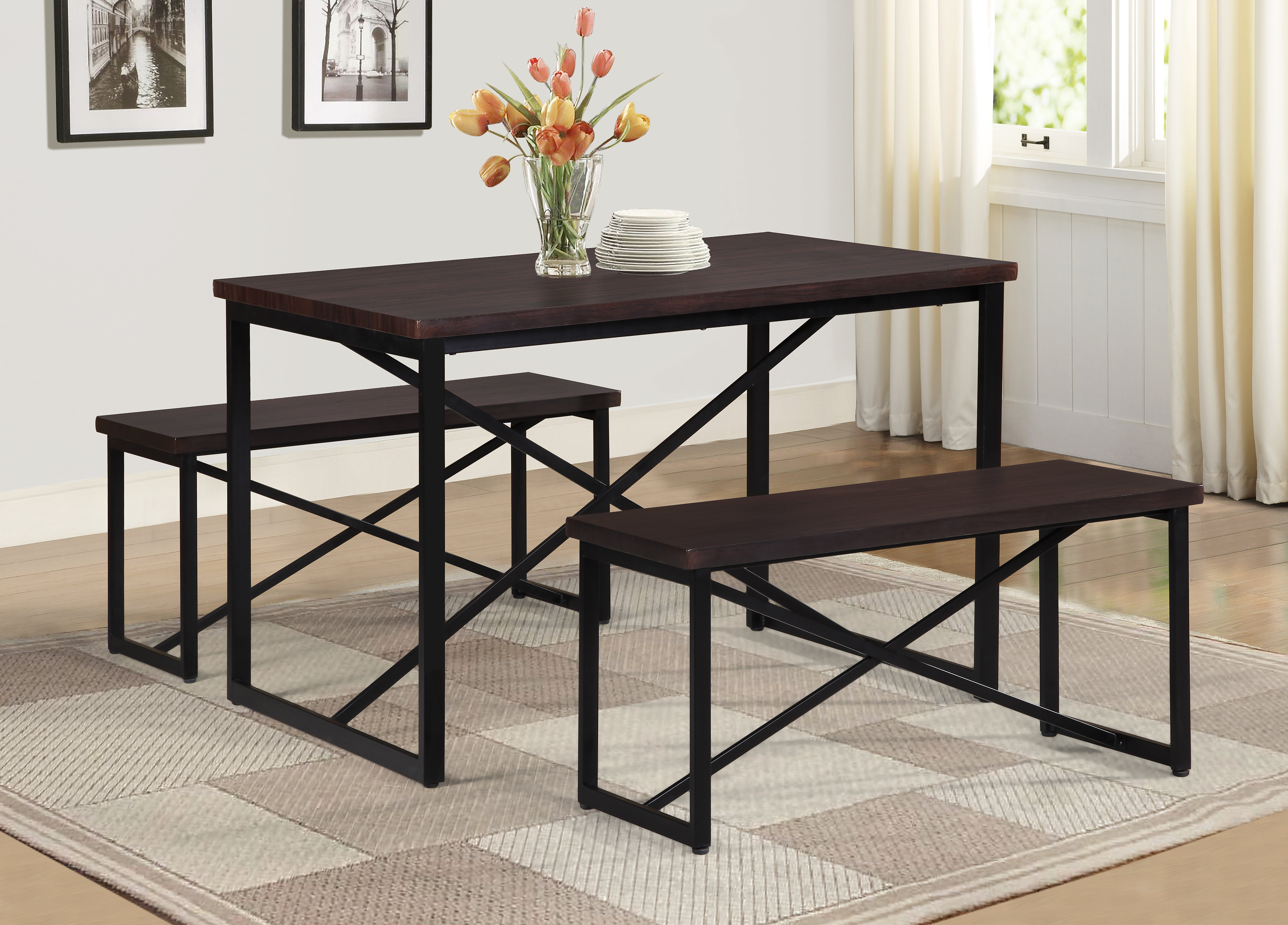 Williston Forge Bearden 3 Piece Dining Set & Reviews (View 11 of 25)