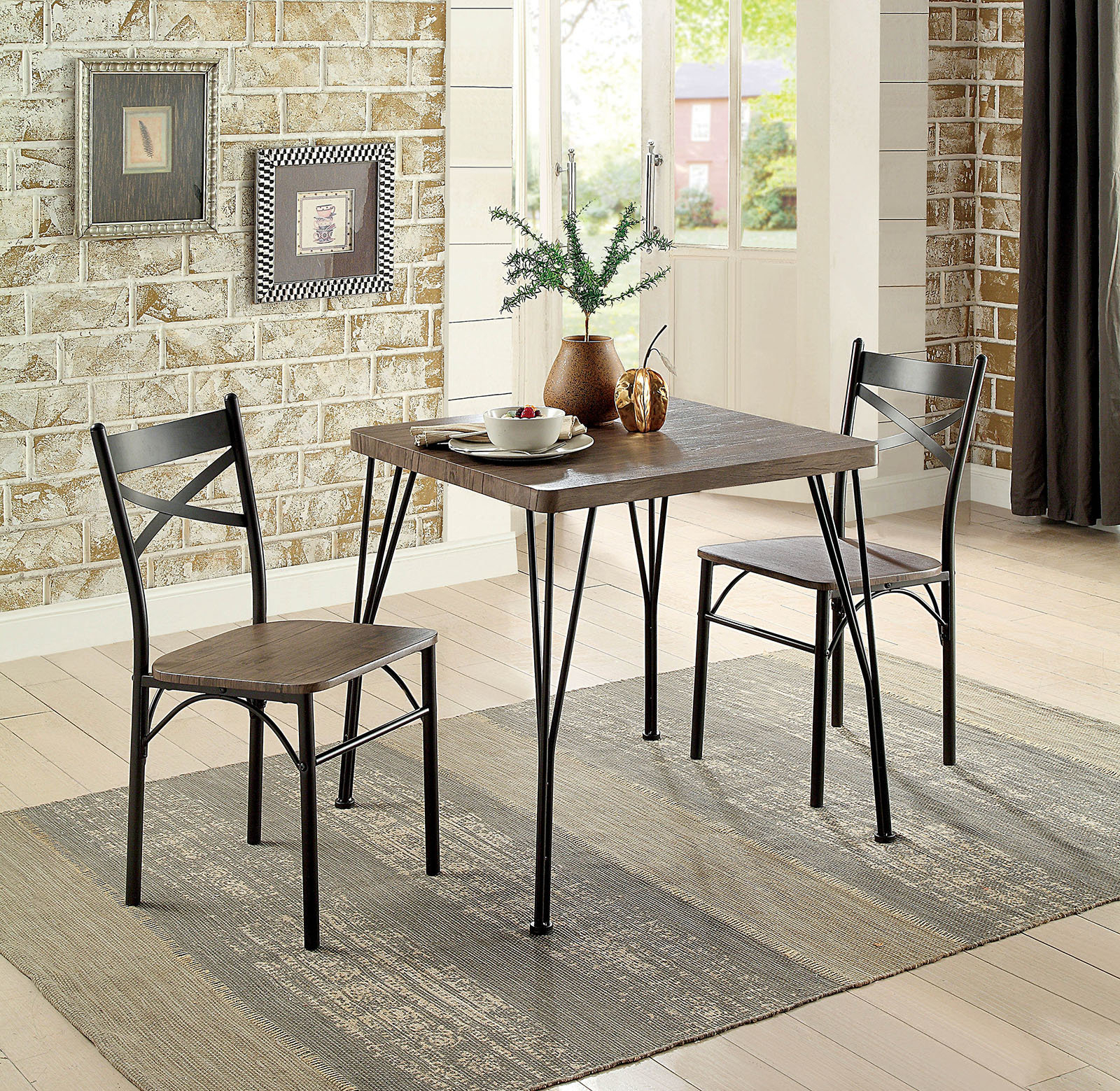 Williston Forge Deaton 3 Piece Dining Table Set  (View 23 of 25)