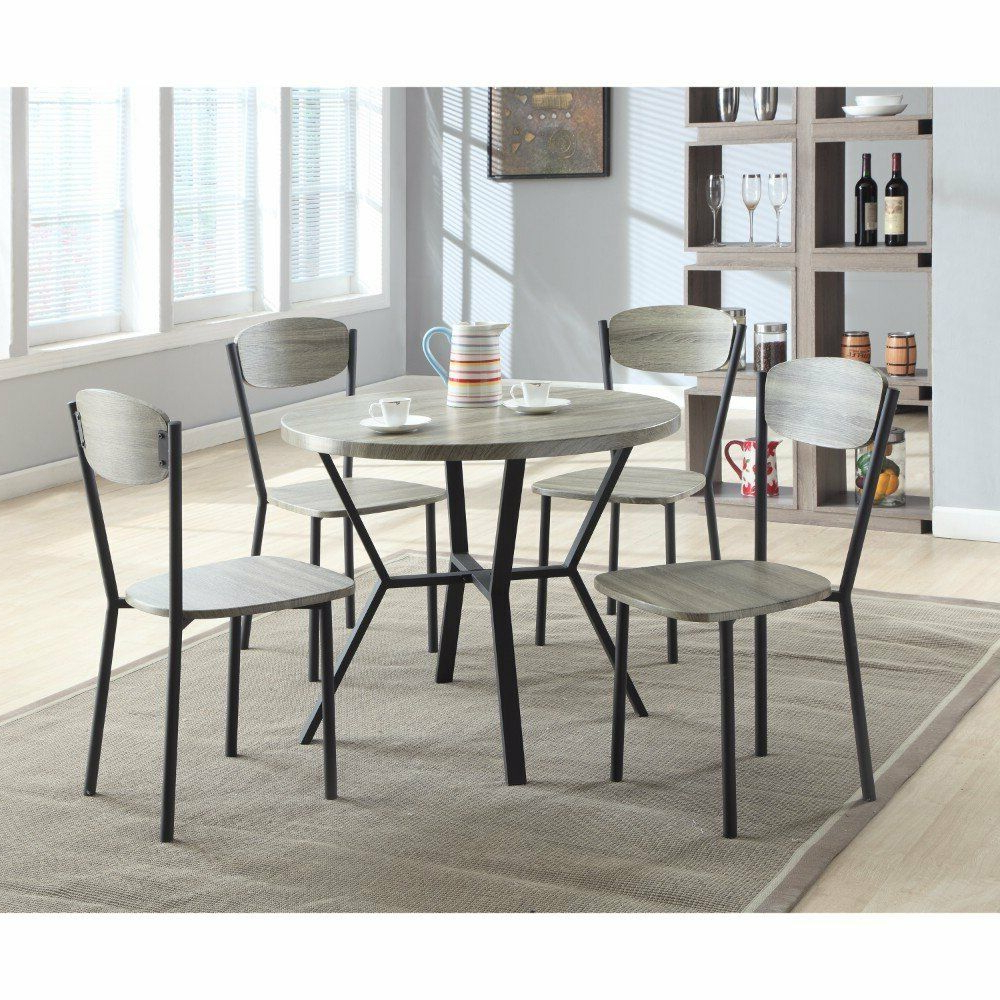 Williston Forge Merrifield 5 Piece Round Dining Set (View 6 of 25)