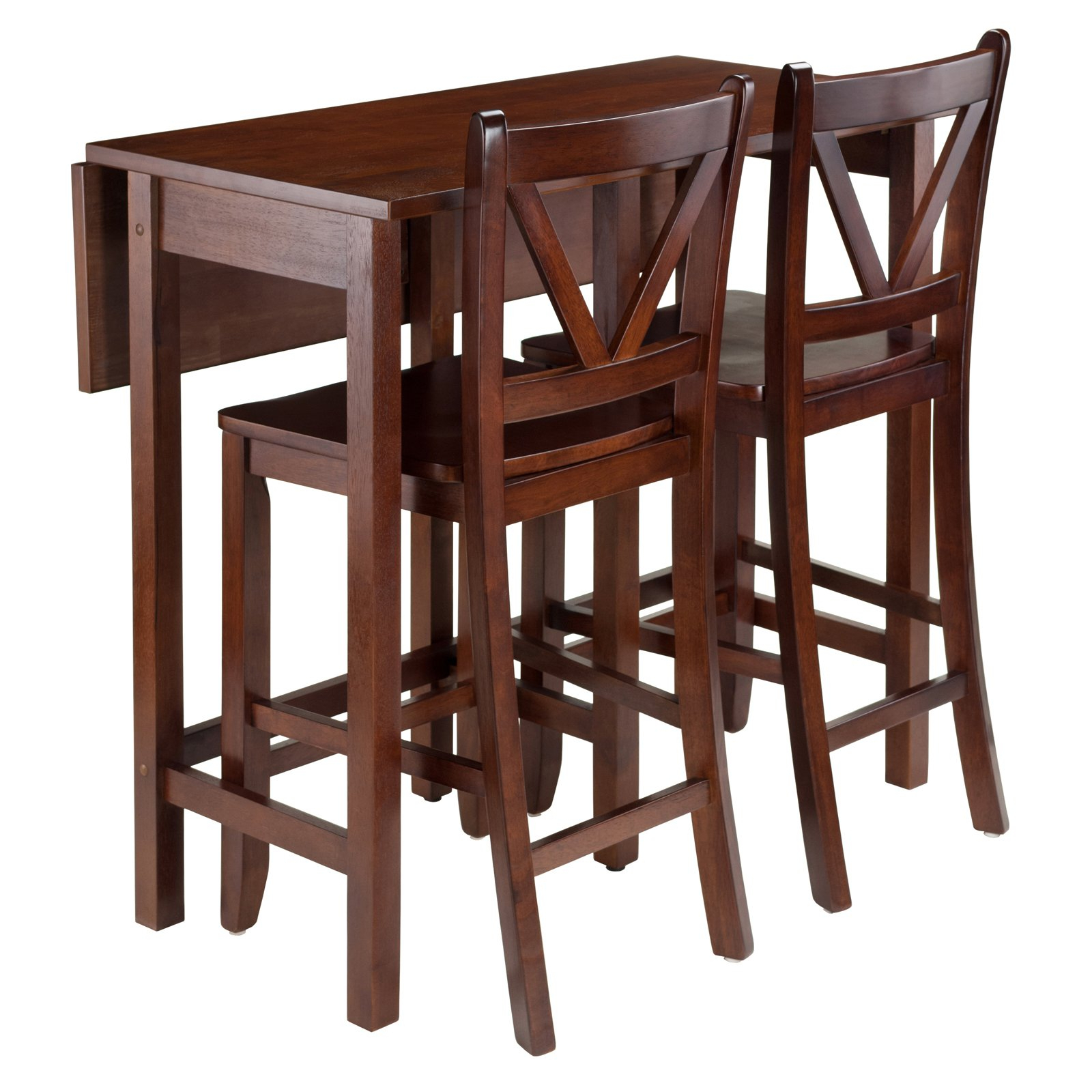 Winsome 3 Piece Counter Height Dining Sets With Regard To Best And Newest Winsome Trading Lynnwood 3 Piece Counter Height Dining Table Set (View 20 of 25)