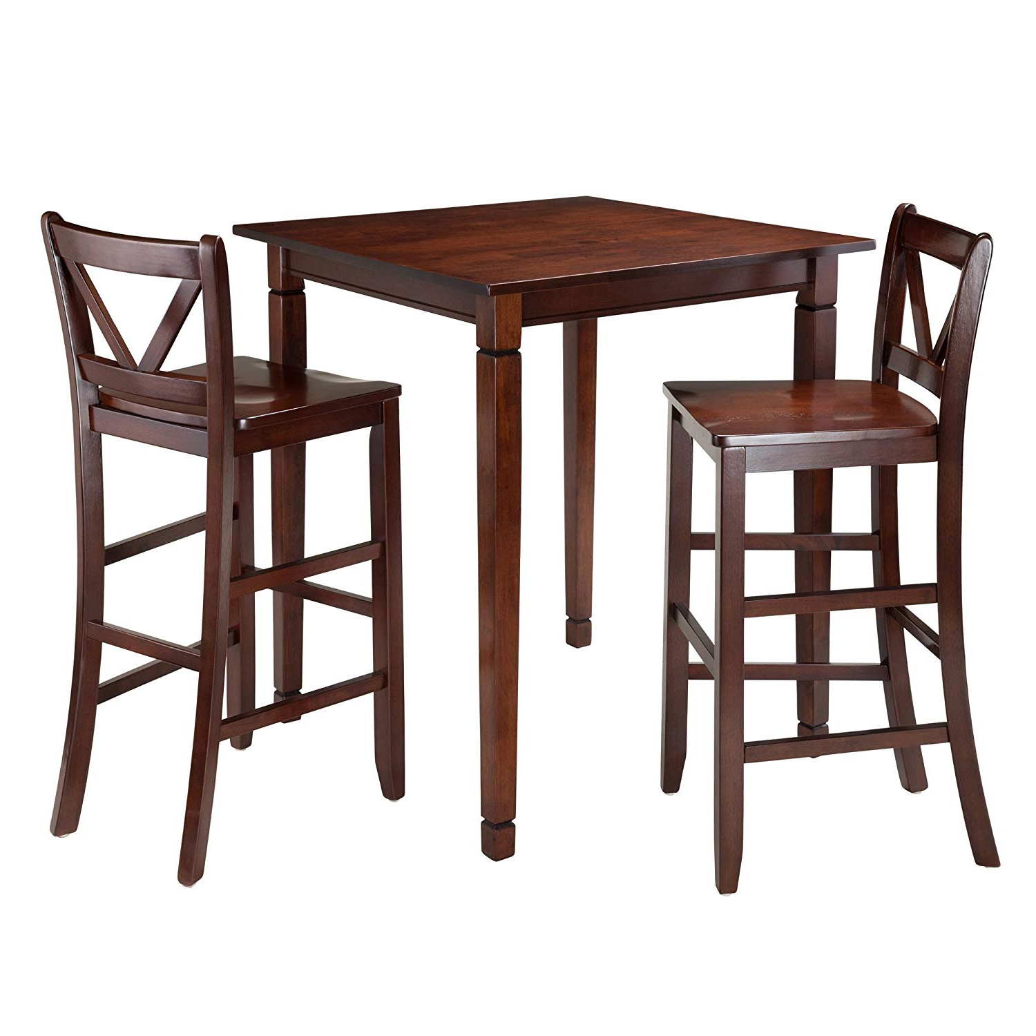 Winsome 3 Piece Counter Height Dining Sets With Regard To Trendy Amazon – Winsome 3 Piece Kingsgate Dining Table With 2 Bar V (View 21 of 25)