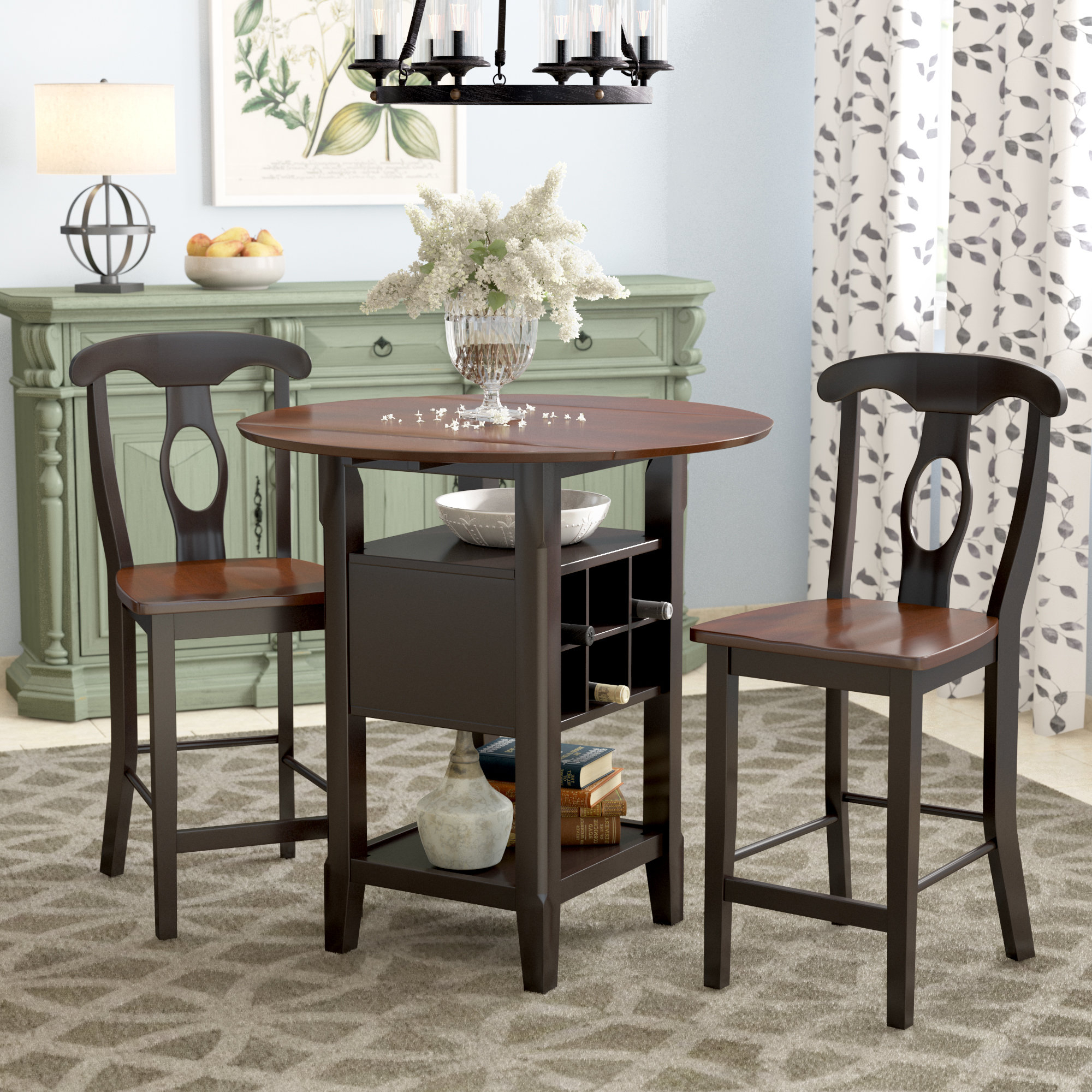 Winsted 4 Piece Counter Height Dining Sets Pertaining To Most Recently Released August Grove Strope 3 Piece Dining Set & Reviews (View 18 of 25)