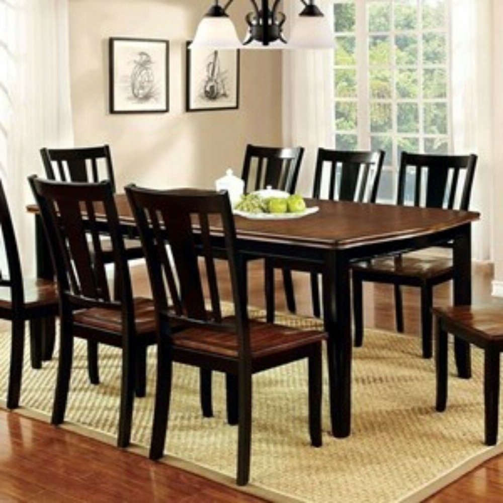 Winston Porter Mooney Transitional 9 Piece Solid Wood Dining Set In Well Liked Goodman 5 Piece Solid Wood Dining Sets (Set Of 5) (View 25 of 25)