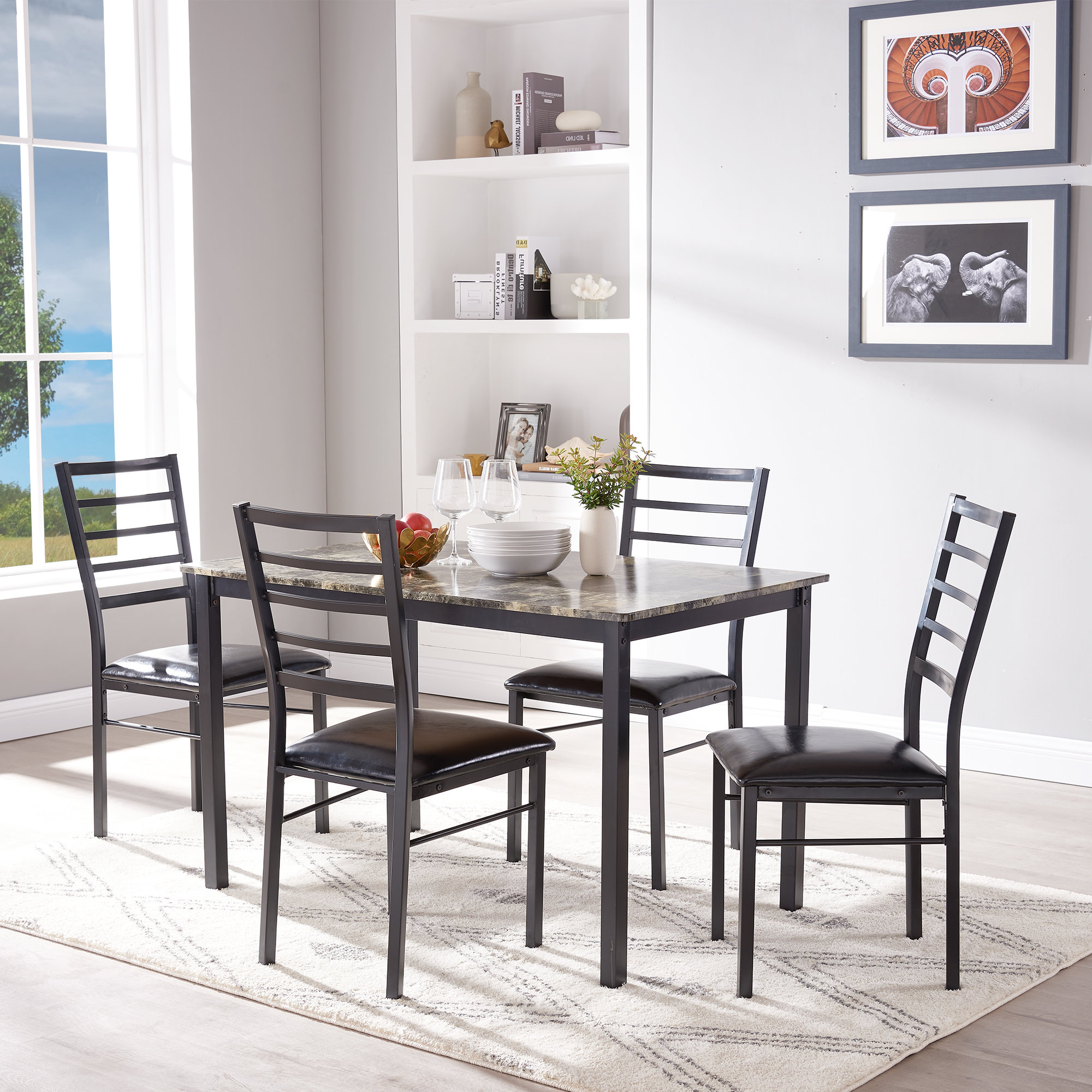 Winston Porter Mukai 5 Piece Dining Set (View 7 of 25)