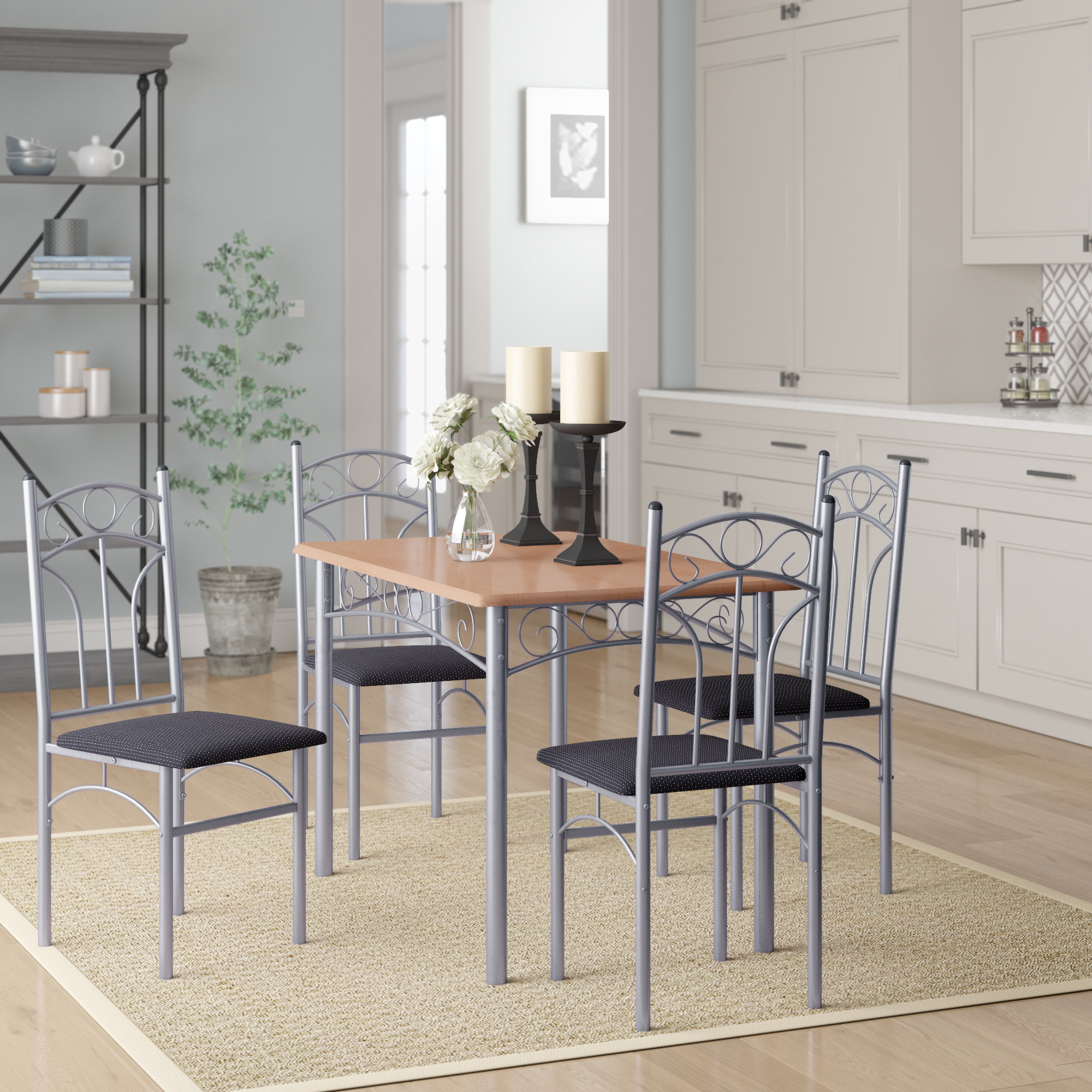 Winston Porter Opalstone 5 Piece Dining Set & Reviews (View 6 of 25)