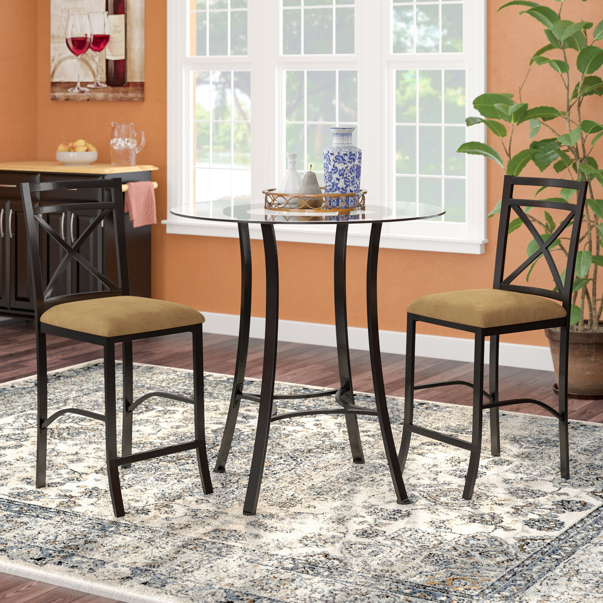 Winston Porter Saleh 3 Piece Counter Height Dining Set (View 6 of 25)
