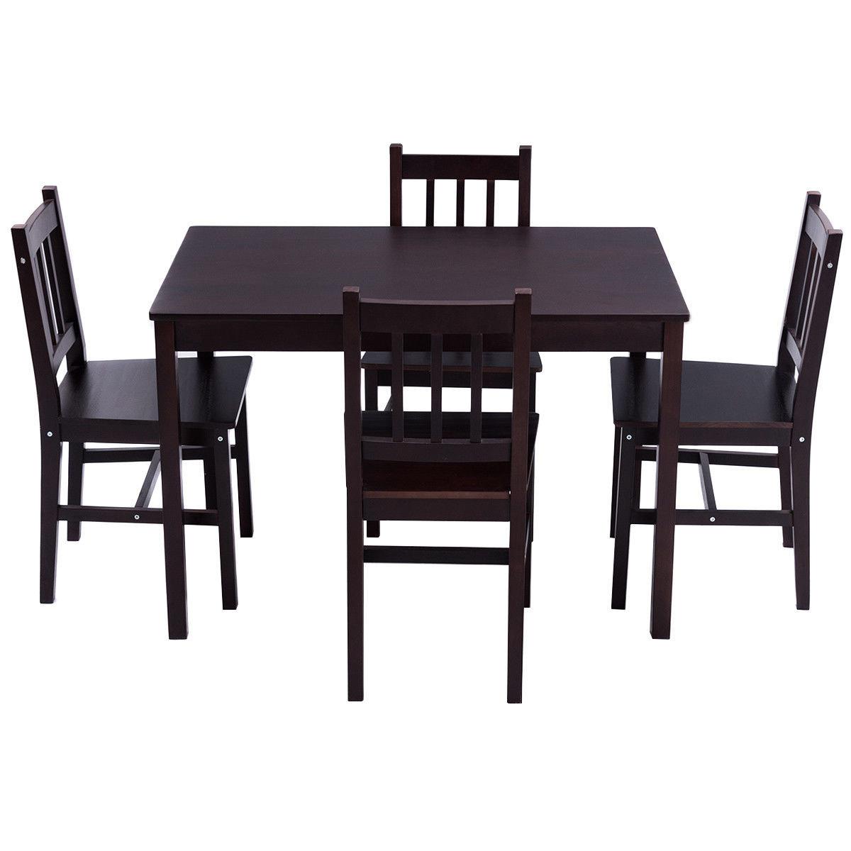 Winston Porter Sundberg 5 Piece Solid Wood Dining Set & Reviews Regarding Current Sundberg 5 Piece Solid Wood Dining Sets (View 25 of 25)