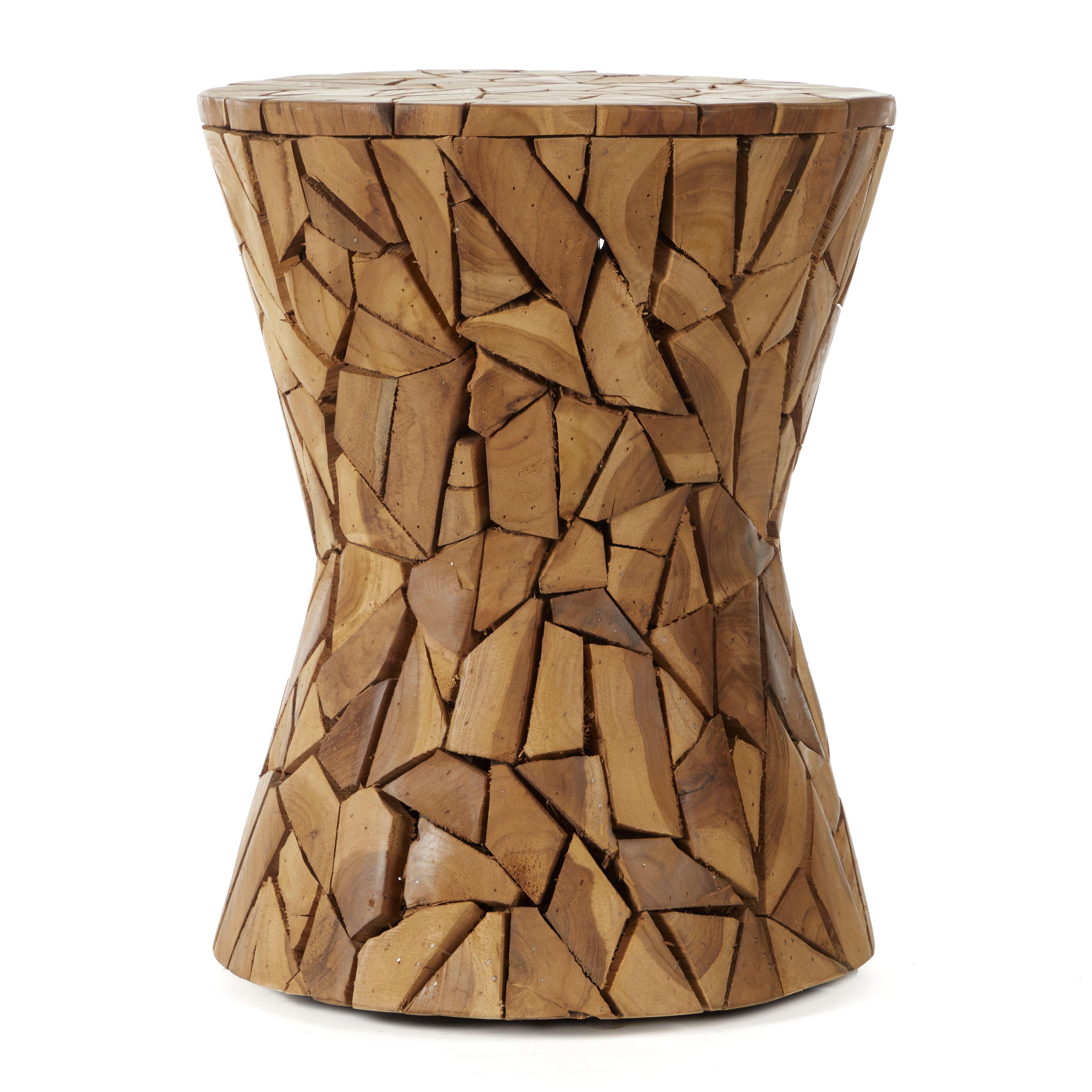 Wood Teak Stool (View 25 of 25)