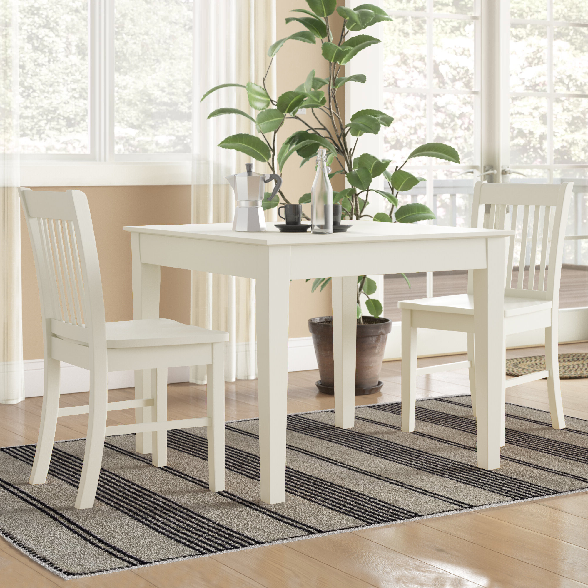 Yedinak 5 Piece Solid Wood Dining Sets in Most Recently Released Alcott Hill Cobleskill 3 Piece Dining Set & Reviews