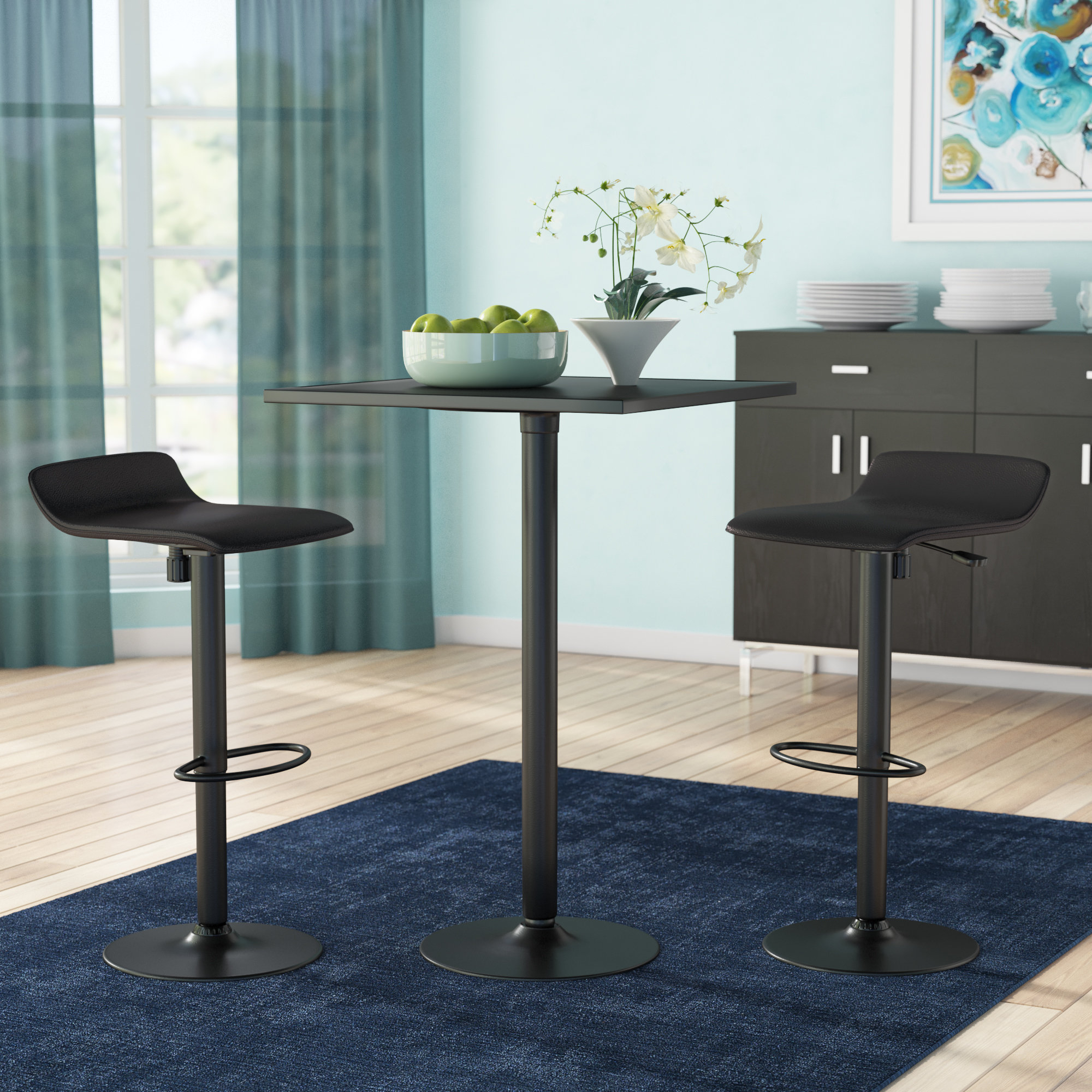 Zipcode Design Avery 3 Piece Dining Table Set & Reviews (View 5 of 25)