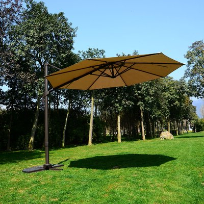 10' Cantilever Umbrella In Most Current Tallulah Sunshade Hanging Outdoor Cantilever Umbrellas (View 20 of 25)