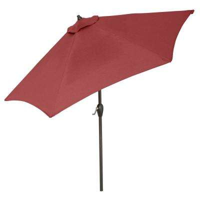 10 Ft. Aluminum Market Auto Tilt Patio Umbrella In Chili Regarding Favorite Jericho Market Umbrellas (Gallery 5 of 25)