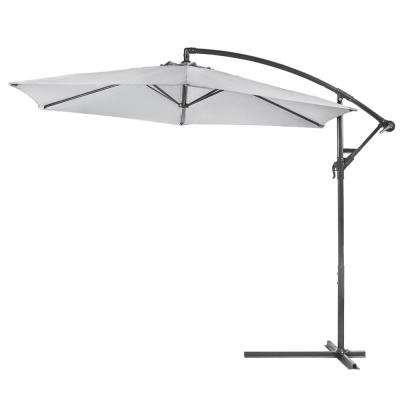 10 Ft. Aluminum Outdoor Hanging Market Patio Umbrella In Dark Grey Inside Most Current Iyanna Market Umbrellas (Gallery 23 of 25)