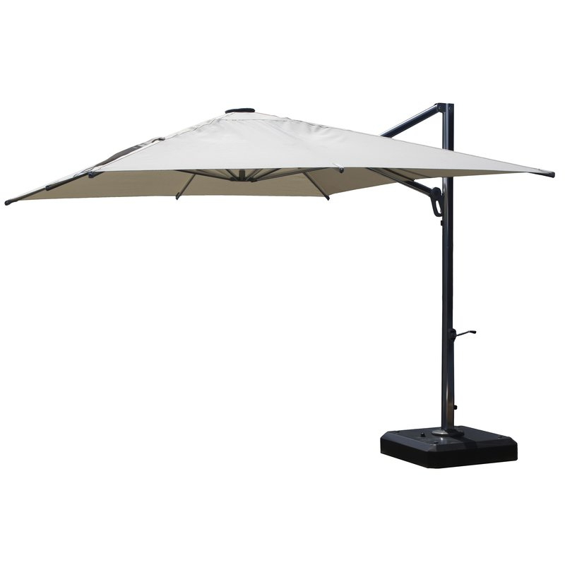 10' Square Cantilever Umbrella In Best And Newest Cantilever Umbrellas (View 2 of 25)