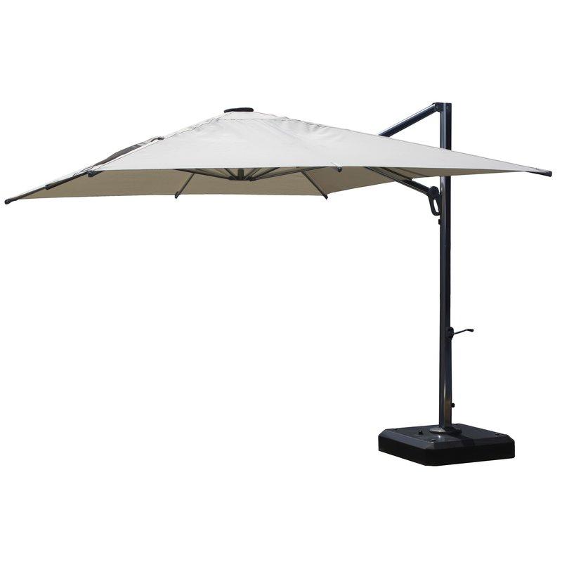 10' Square Cantilever Umbrella With Regard To Most Current Carlisle Square Cantilever Sunbrella Umbrellas (Gallery 7 of 25)