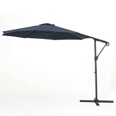 11.5 Ft. Steel Cantilever Tilt Patio Umbrella In Blue With Well Liked Maidste Square Cantilever Umbrellas (Gallery 8 of 25)