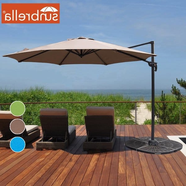 11 Cantilever Umbrella Sunbrella Fabric – Tile Design Ideas Within Most Up To Date Kedzie Outdoor Cantilever Umbrellas (View 12 of 25)