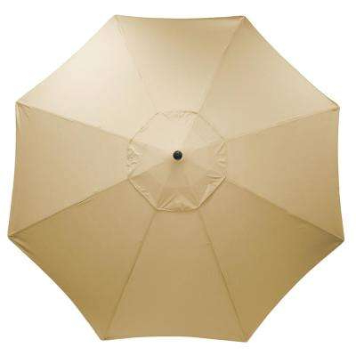 11 Ft. Aluminum Market Patio Umbrella In Sunbrella Antique Beige Intended For Favorite Julian Market Sunbrella Umbrellas (Gallery 22 of 25)