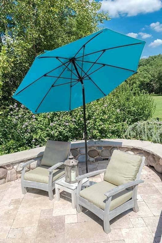 11 Market Umbrella Ft Cantilever Aluminum Outdoor Furniture Costco Throughout 2018 Mullaney Market Sunbrella Umbrellas (View 1 of 25)