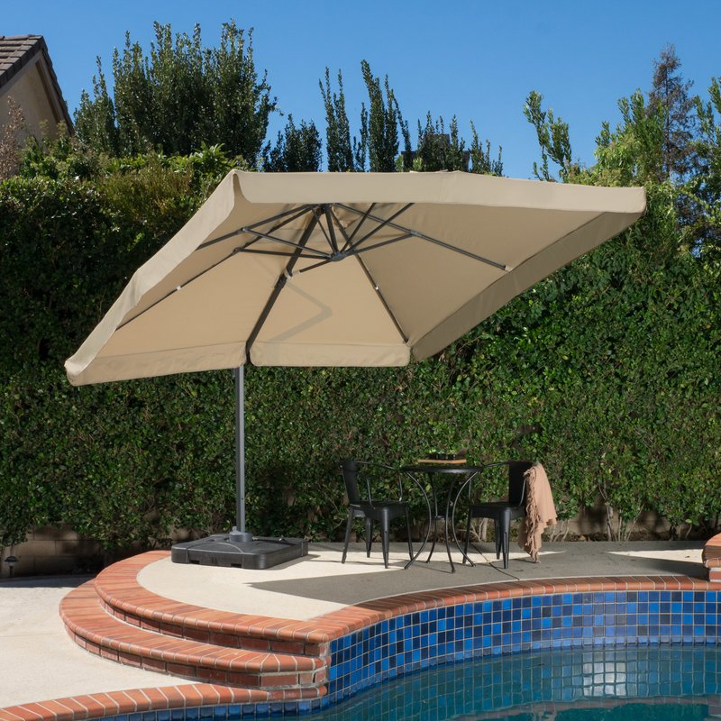 12 Best Patio Umbrella Reviews: Top Quality Outdoor Umbrellas In 2019 with regard to Newest Wardingham Square Cantilever Umbrellas