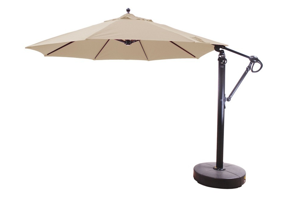 1Stop Lighting Throughout Popular Krystal Square Cantilever Sunbrella Umbrellas (Gallery 21 of 25)