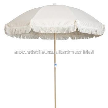 200Cm Outdoor Aluminum Wooden Coated Beach Umbrella Tassels From with 2018 Bricelyn Market Umbrellas
