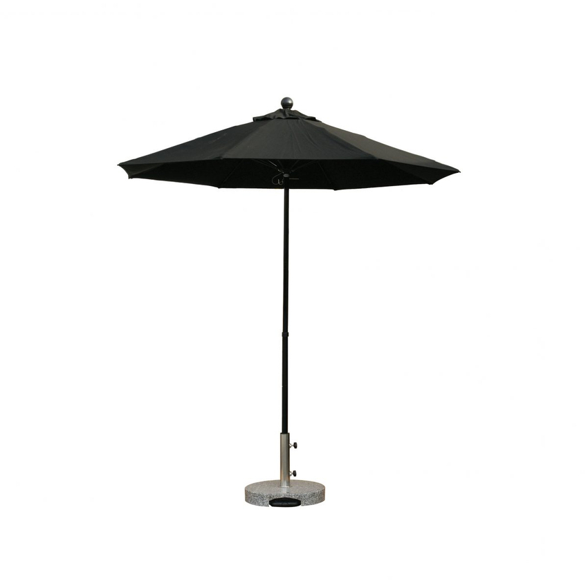 2017 7.5' Fiberglass Umbrella, 38Mm 2-Section Pole, Manual,single Vent W for Wiebe Market Sunbrella Umbrellas