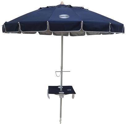 2017 Beach Umbrellas Inside Sunraker® Beach Umbrella With Table (View 23 of 25)