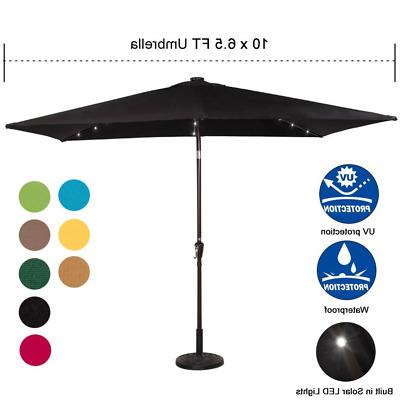 2017 Breakwater Bay Eisele 9' W X 15' D Rectangular Market Umbrella within Wiechmann Market Sunbrella Umbrellas
