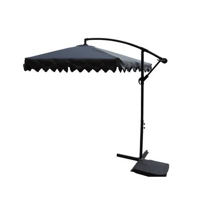 2017 Charlton Home Driskill Hanging Patio 10' Cantilever Umbrella With Tallulah Sunshade Hanging Outdoor Cantilever Umbrellas (View 7 of 25)