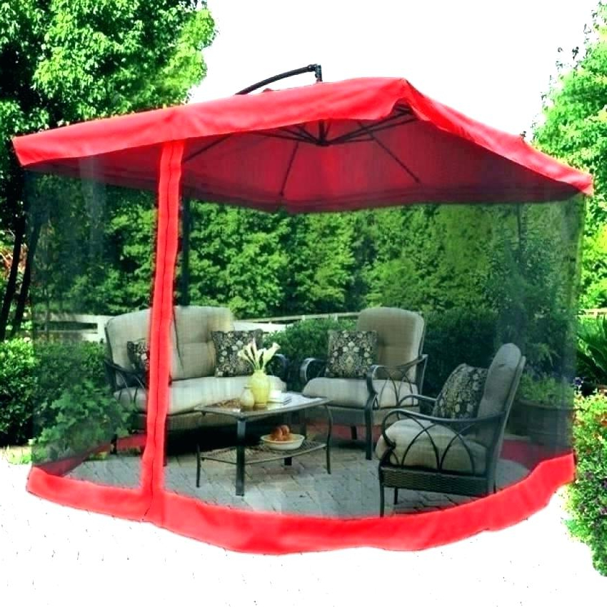 2017 Foot Offset Patio Umbrella New In Box 8 Feet Square Stand Sports With Regard To Krystal Square Cantilever Sunbrella Umbrellas (View 25 of 25)