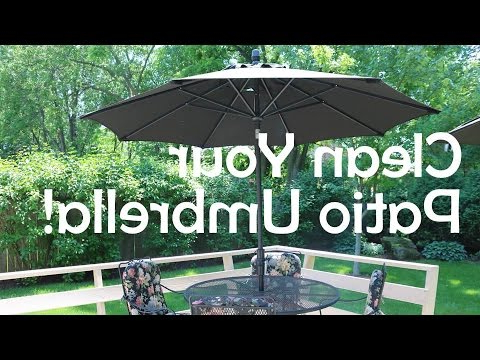 2017 Frome Market Umbrellas throughout How To Clean Your Patio Umbrella!