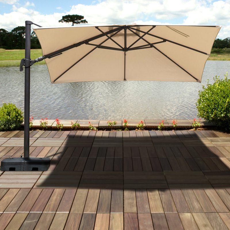 2017 Grote Liberty Aluminum Square Cantilever Umbrella With Grote Liberty Aluminum Square Cantilever Umbrellas (View 6 of 25)