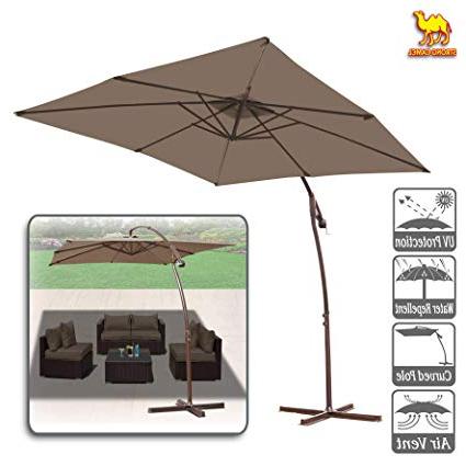 2017 Justis Cantilever Umbrellas inside Amazon : Strong Camel 8' X 8' Cantilever Banana Umbrella Patio