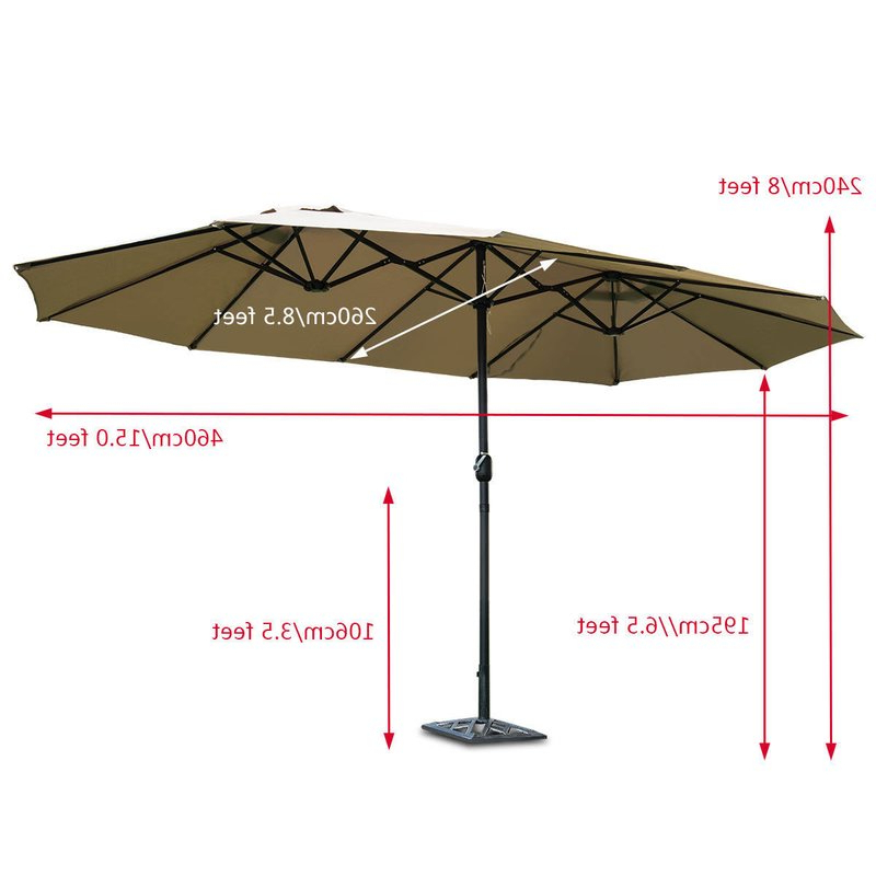 2017 Lagasse Market Umbrella Regarding Lagasse Market Umbrellas (View 3 of 25)
