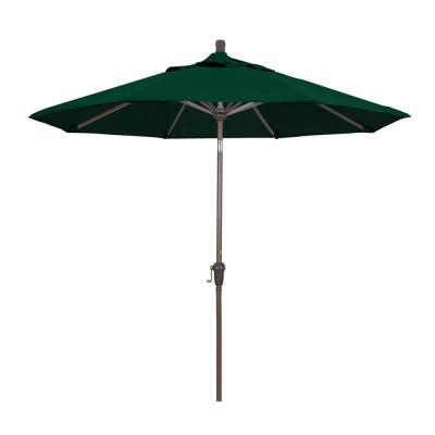 2017 Lanai 9 Ft. Half Market Patio Umbrella In Cilantro Green Polyester in Lanai Market Umbrellas