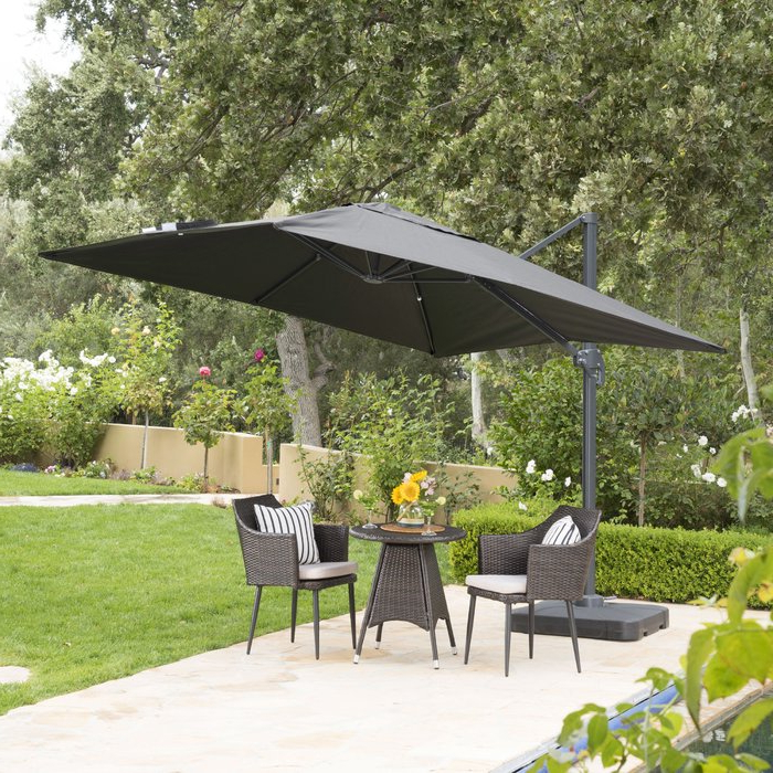 2017 Maidste Square Cantilever Umbrellas intended for Wardingham 9.8' Square Cantilever Umbrella