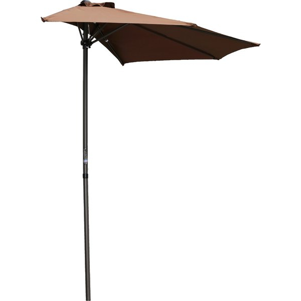 2017 Norah Rectangular Market Umbrellas Pertaining To Dade City North 9' Half Market Umbrella (View 21 of 25)
