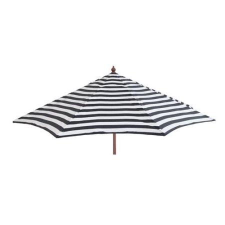 2018 45 Black And White Striped Patio Umbrella, Destinationgear Euro 9 Ft in Destination Gear Square Market Umbrellas