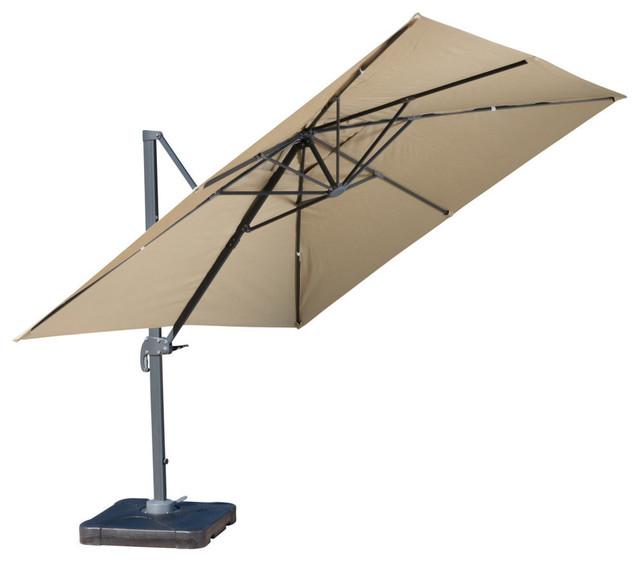 2018 Bayside Series Cantilever Umbrellas with Gdf Studio Bayside Outdoor Deluxe Umbrella