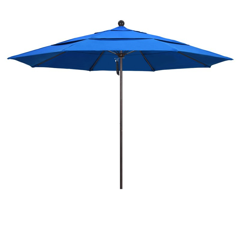 2018 Benson 11' Market Umbrella with Crowland Market Sunbrella Umbrellas