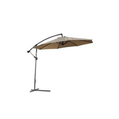 2018 Bondi Square Cantilever Umbrellas throughout 10 Ft. Gandia Cantilever Patio Umbrella In Mocha