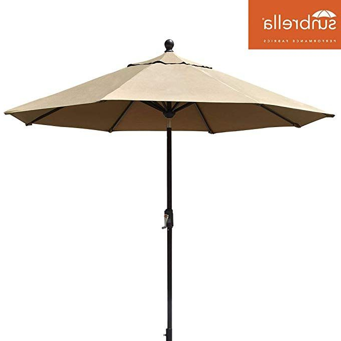 2018 Crediton Market Umbrellas In Amazon : Eliteshade Sunbrella 9Ft Market Umbrella Patio Outdoor (View 3 of 25)