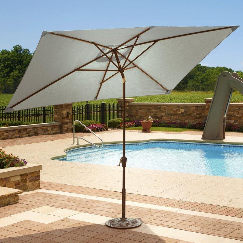 2018 Dena 10' X 6.5' Rectangular Market Umbrella intended for Dena Rectangular Market Umbrellas